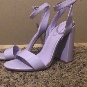 Shoes - Purple lilac mix no. 6 chunky heels